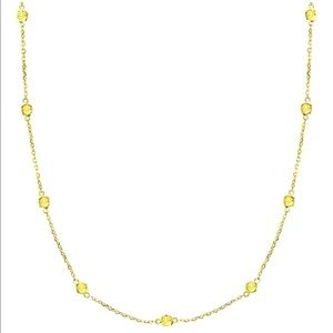 Fancy Yellow Canary Diamonds By The Yard Necklace